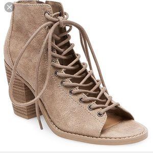 Peep Toe Lace Boots